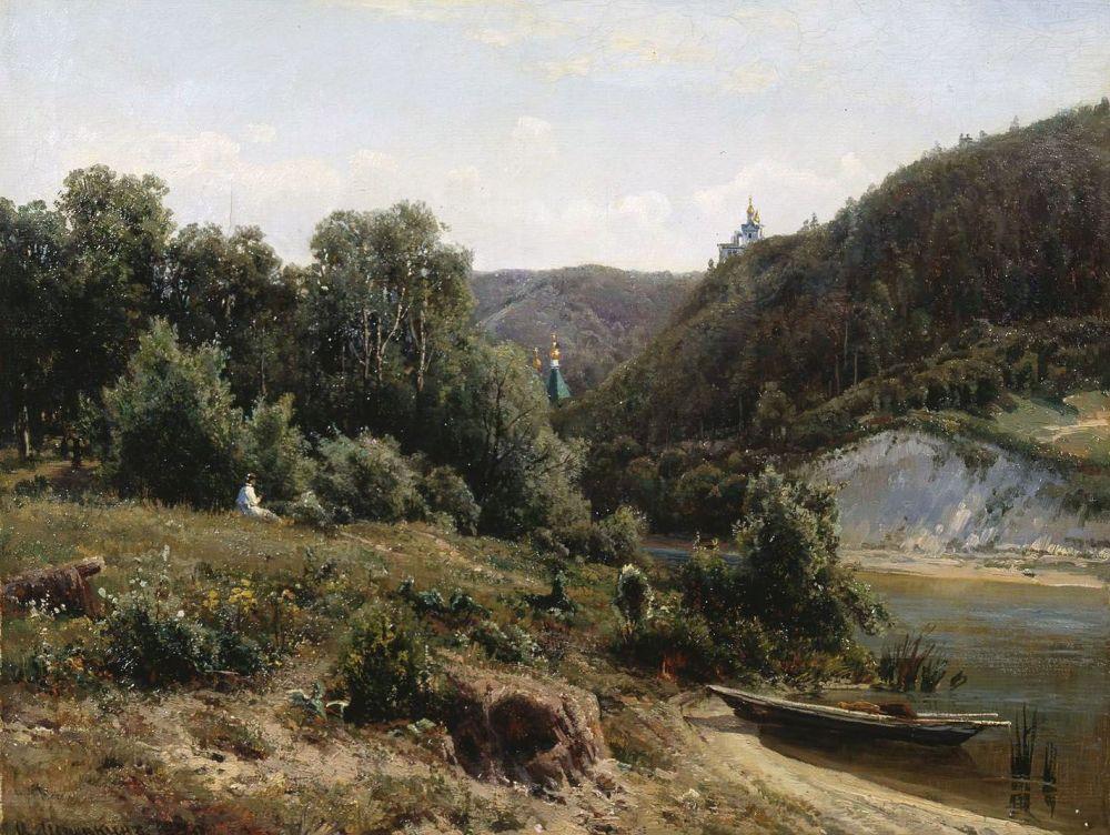 Иван Иванович Шишкин. У монастыря