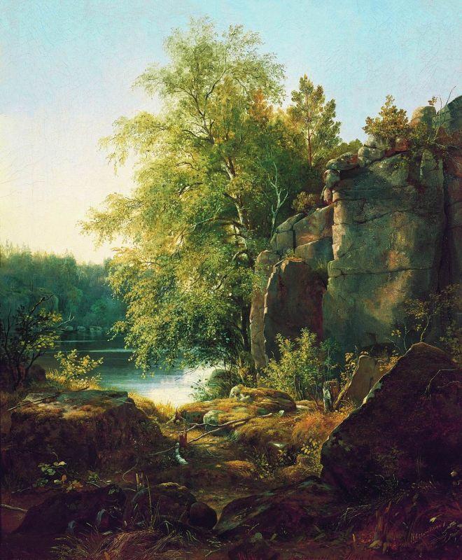 Иван Иванович Шишкин. Вид на острове Валааме