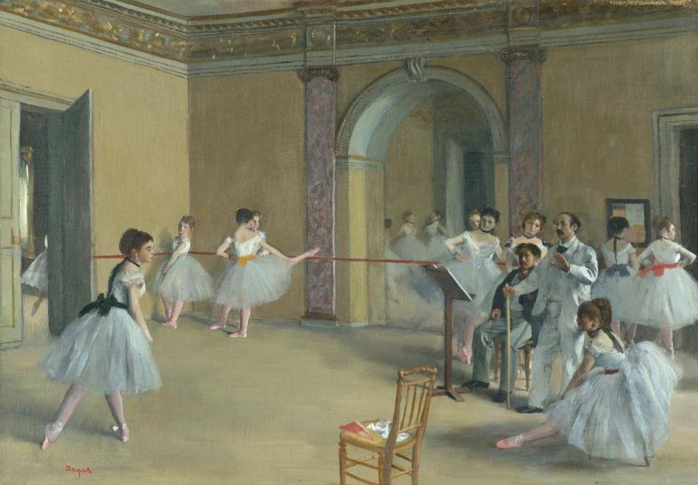 Эдгар Дега. Балетный класс Оперы на улице Пелетье