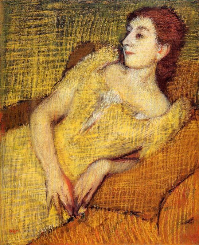 Эдгар Дега. Сидящая женщина