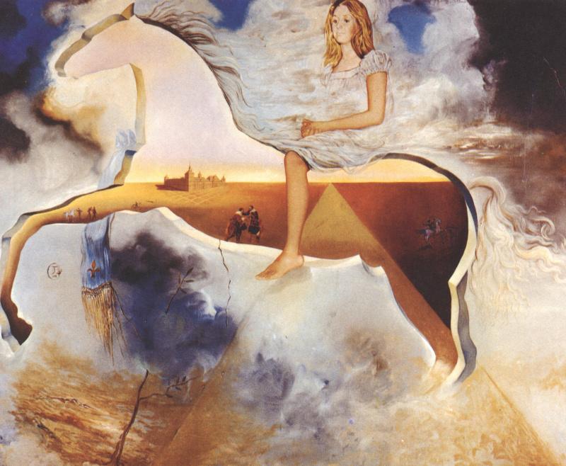 Сальвадор Дали. Конный портрет Кармен Бордио-Франко