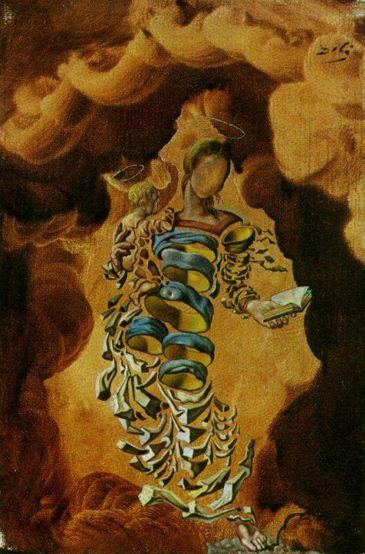 Сальвадор Дали. Мадонна в частицах