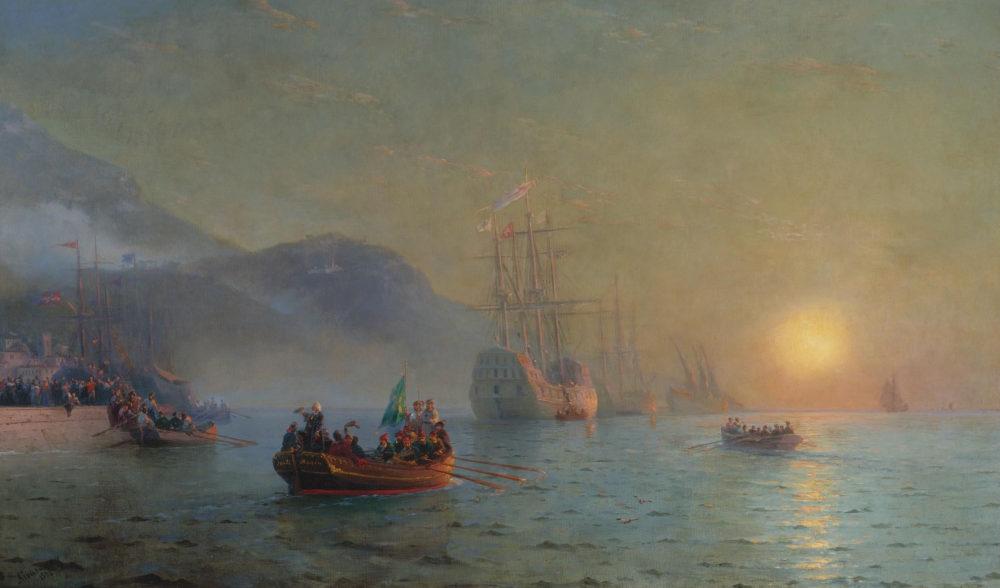 Kolumb-proplyvayushhij-cherez-mys-Palos.-1892.-CHastnoe-sobranie